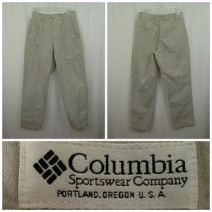 Columbia womens pants 29x30 Size S est. Khaki tan